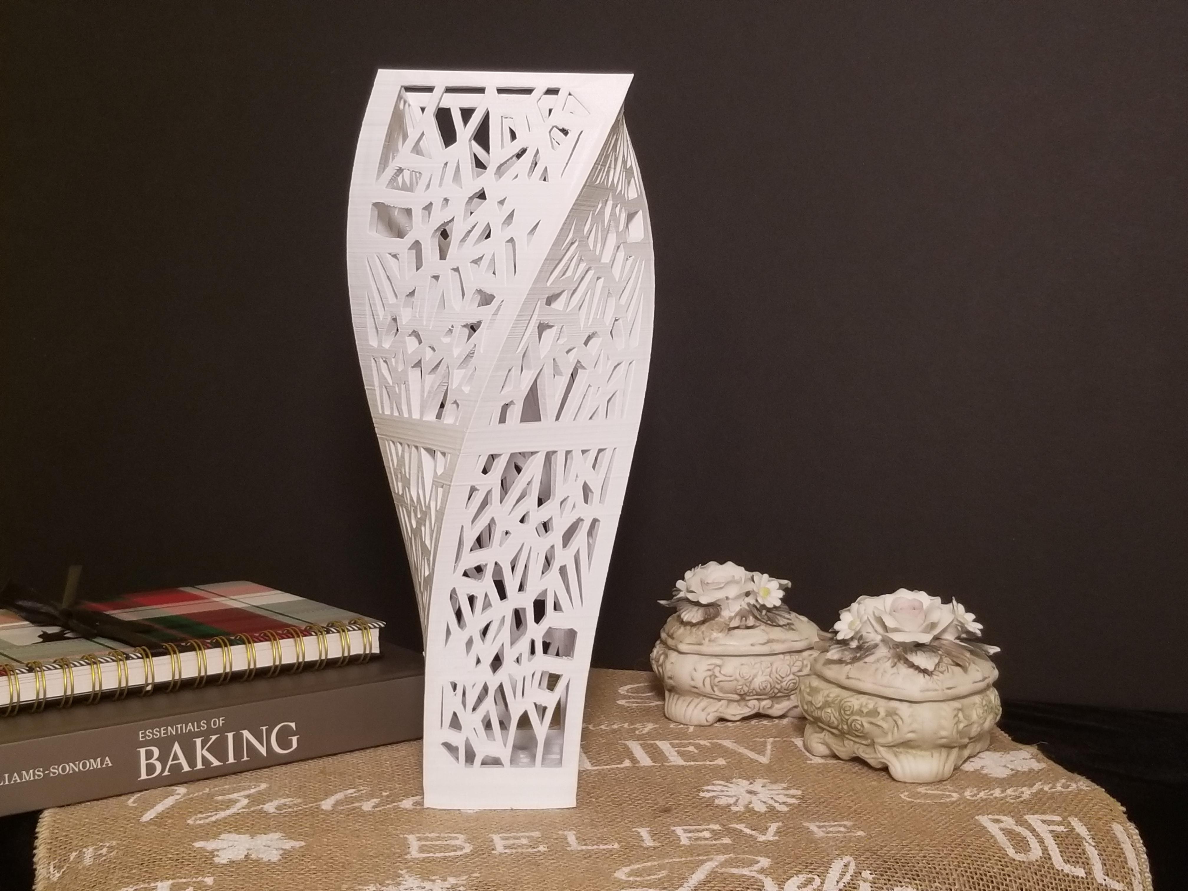 Elegant Helix Vase