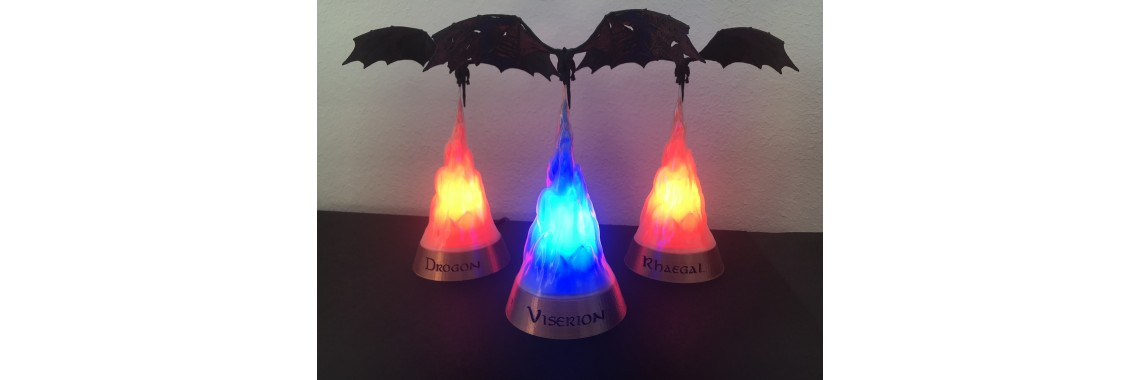 Game of Thrones Dragon lamps